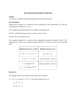 DATA ANALYSIS AND ERROR ESTIMATION
