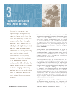 industry structure and labor trends
