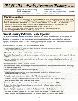 Course Description Student Learning Outcomes / Course Objectives