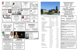 Current BULLETIN - St. Mary Catholic Church Solon, Iowa