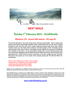 NEXT WALK - Culter Hillwalking Club