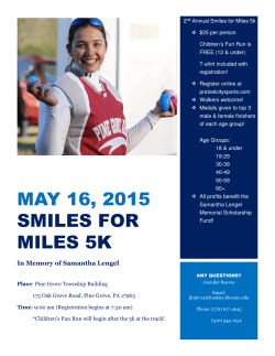 MAY 16, 2015 SMILES FOR MILES 5K