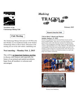 2015-Feb-Newsletter(PDF) - Chattanooga Hiking Club
