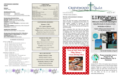 Newsletter - Crievewood Baptist Church