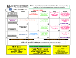 February 2015 - Edgerton Community Outreach