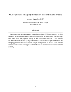 Multi-physics imaging models in discontinuous media