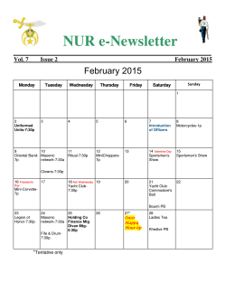Current NUR e-Newsletter