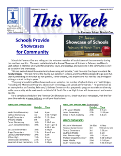 ThisWeek21 - Florence School District One