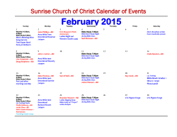February 2015 - Sunrise Church of Christ