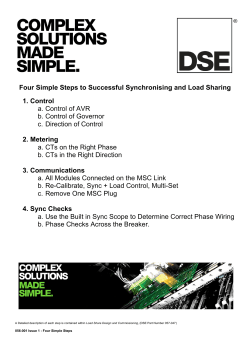 056-001 Four Steps To Synchronising