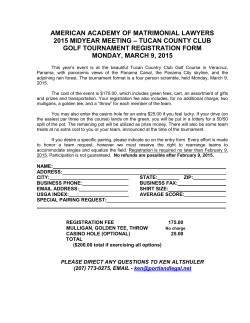 4 - AAML Golf Registration Form 2015