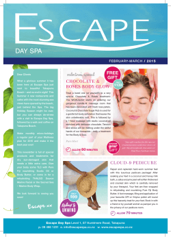 Promotions - Escape Spa