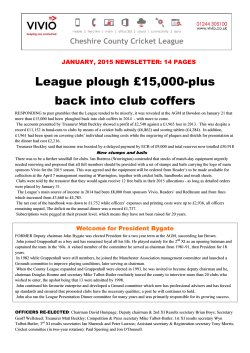 League plough £15,000-plus back into club coffers