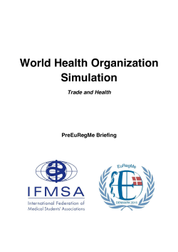 World Health Organization Simulation