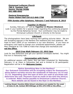 Weekly News - Emmanuel Lutheran Church