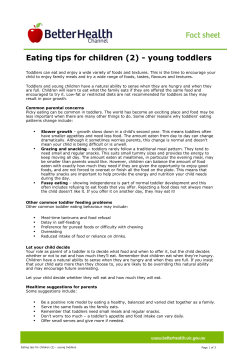 Eating tips for children (2) - young toddlers
