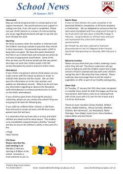 Newsletter - Charlton Kings Junior School