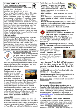 Newsletter page 2 - Holy Trinity RC Church