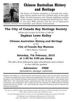 Chinese Australian History and Heritage