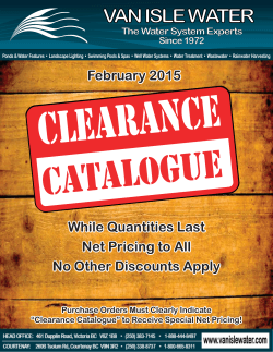 Clearance Catalogue Net Pricing