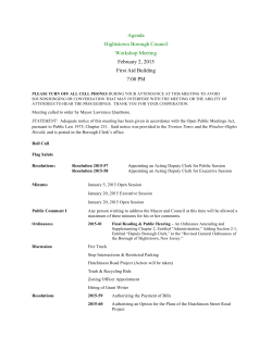 AGENDA 2/2 Borough Council
