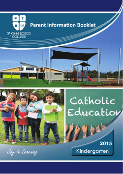 View our Parent Information Booklet