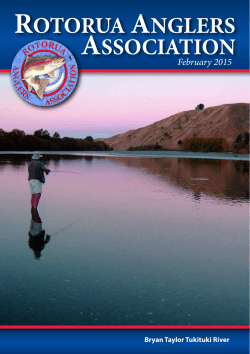 Newsletter February 2015 - Rotorua Anglers Association