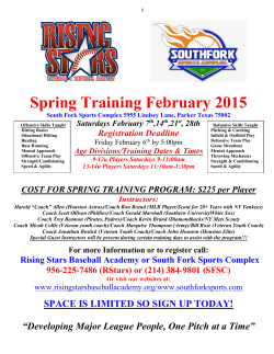 Spring Training February 2015 - Rising Stars Baseball Academy