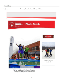 January News from Special Olympics Oklahoma