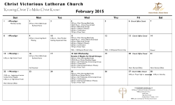 February Calendar and Worship Assistant Schedule (pdf)