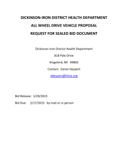 details on Dickinson Iron District Health Depts Vehicle Bid/Proposal