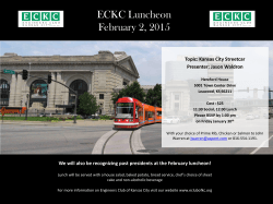February 2,0215 Luncheon - Engineers Club of Kansas City