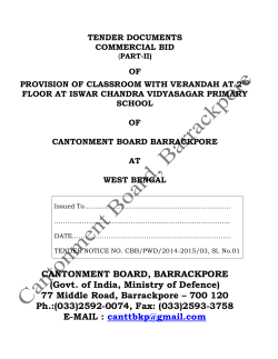 Commercial Bid of Classroom with verandah at 2nd