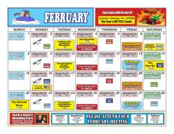 Current Calendar - American Legion The Friendly Post 178