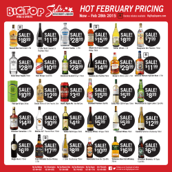 SALE! - big top liquors