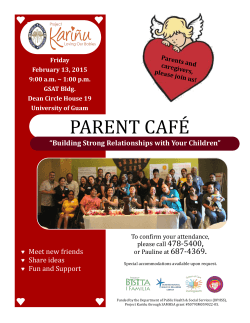 Parent Cafe - Project Karinu