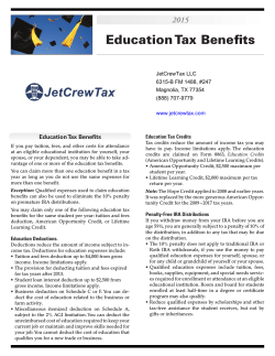 Education Tax Benefits
