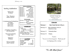 Bulletin Feb. 1, 2015 - Wimberley Church of Christ