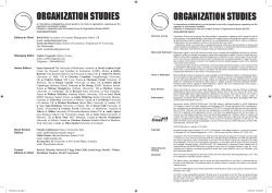 Editorial Board (PDF) - Organization Studies