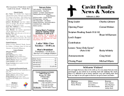 Welcome Visitors! - Cavitt Church of Christ