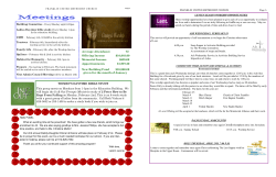 February 2015 Newsletter - Franklin United Methodist Church
