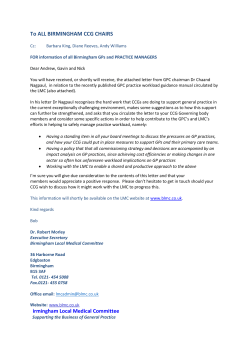 Letter to CCG Chairs from Dr Chaan Nagpual