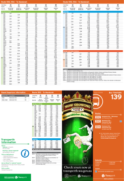 Bus Timetable 139 (From 1 Feb 2015)