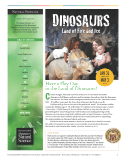 Have a Play Day in the Land of Dinosaurs! JAN 31 MAY 3