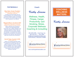 Kathy Larson - Coaching Wellness Matters