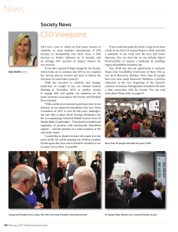CEO Viewpoint - Biochemist e