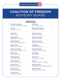 COALITION OF FREEDOM ADVISORY BOARD