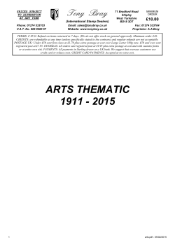 arts thematic 1911 - 2015