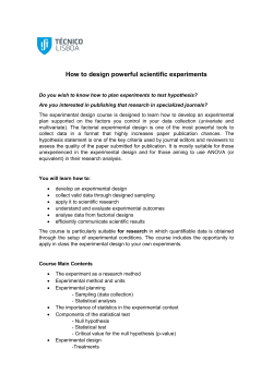 How to design powerful scientific experiments