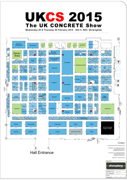 Floor Plan - UK Concrete Show